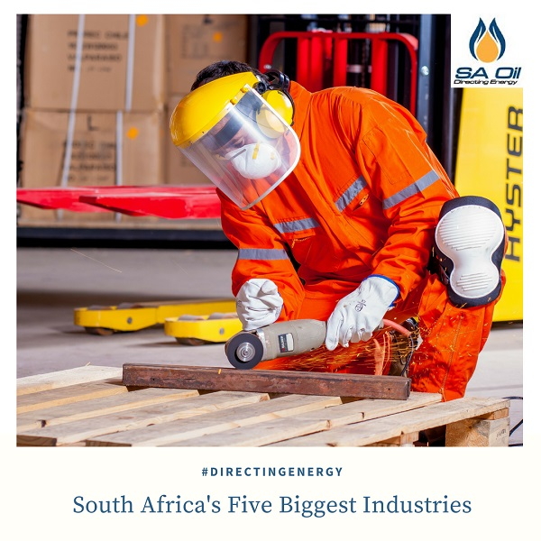South African industry depends on energy like that from industrial fuel oils