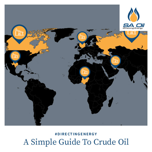 SA Oil explains crude oil with reference to oil found around the world