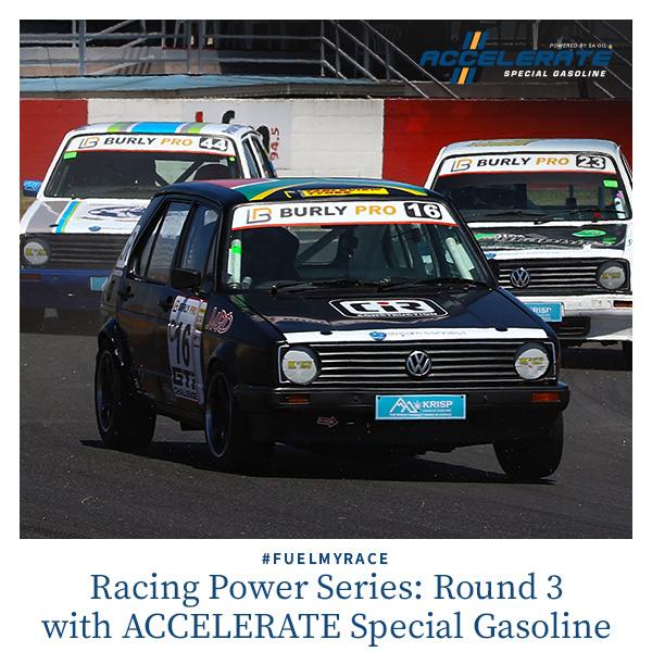 SA Oil's ACCELERATE Special Gasoline brand ambassador Giordano Lupini is tackling Round 3 of the Power Series