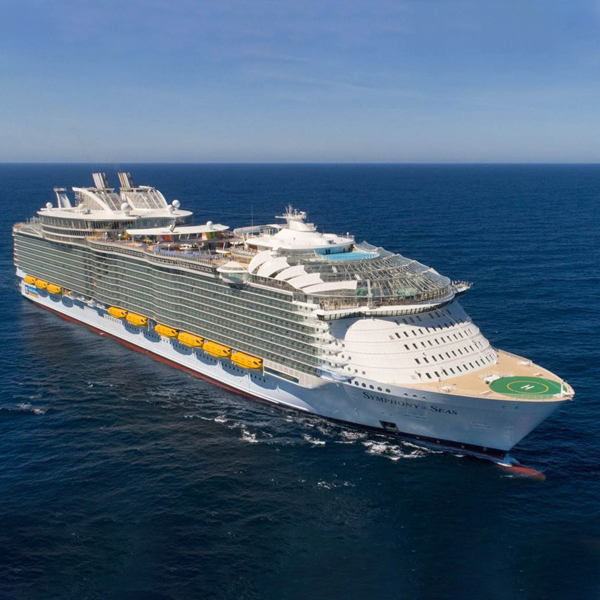 Marine diesel oil fuels Symphony of the Seas