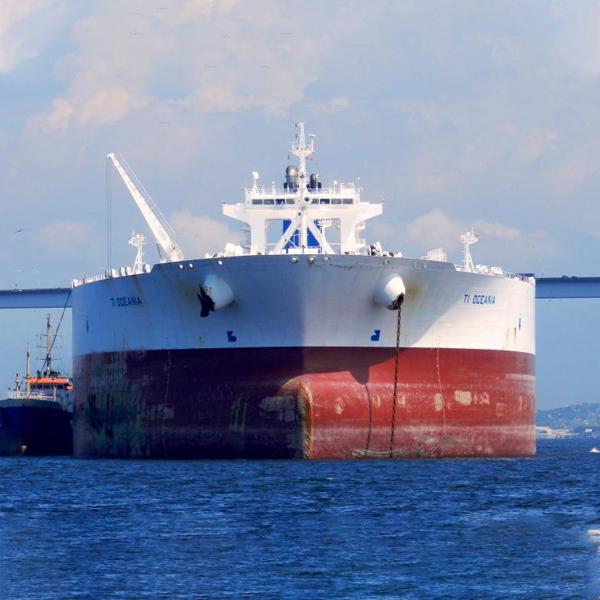 Marine diesel oil fuels the TI Oceania Supertanker