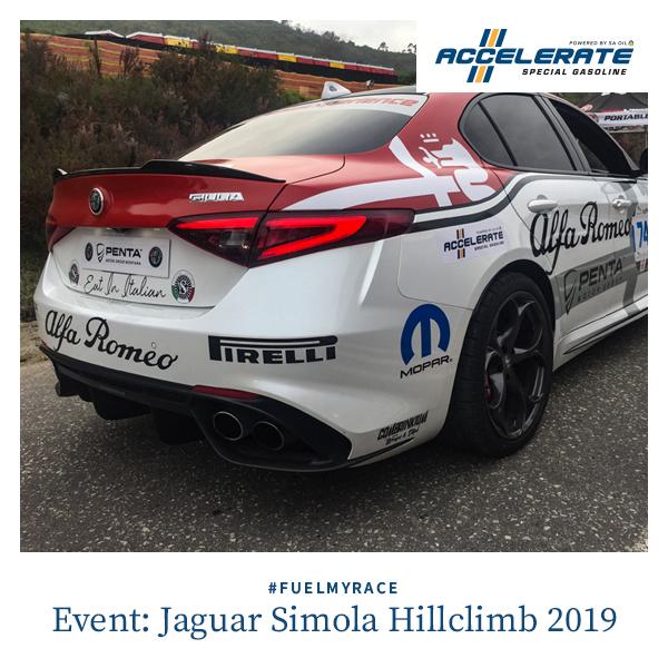 SA Oil's ACCELERATE Special Gasoline fuelled success at the Jaguar Simola Hillclimb