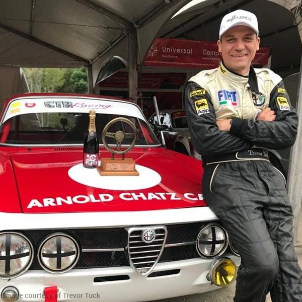 SA Oil's ACCELERATE Special Gasoline fuelled the race of Trevor Tuck at the Jaguar Simola Hillclimb