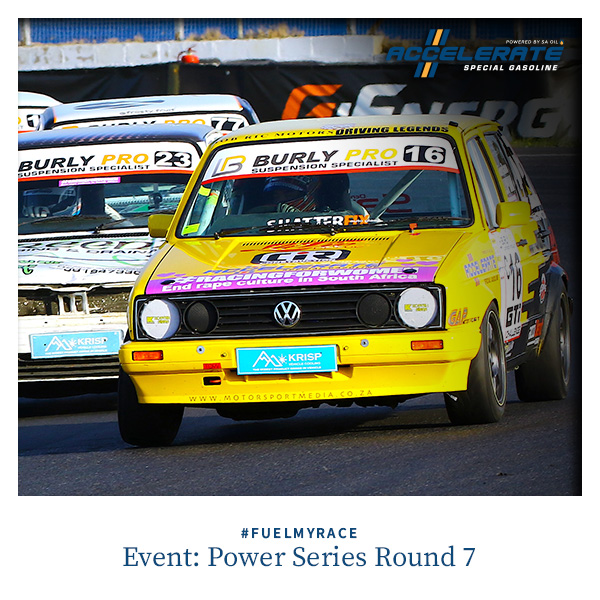 CCELERATE Special Gasoline brand ambassador Giordano Lupini in Round 7 of the Power Series