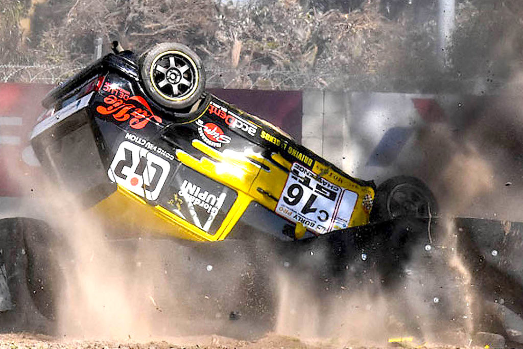 ACCELERATE Special Gasoline brand ambassador Giordano Lupini crashes in Round 6 of the Power Series