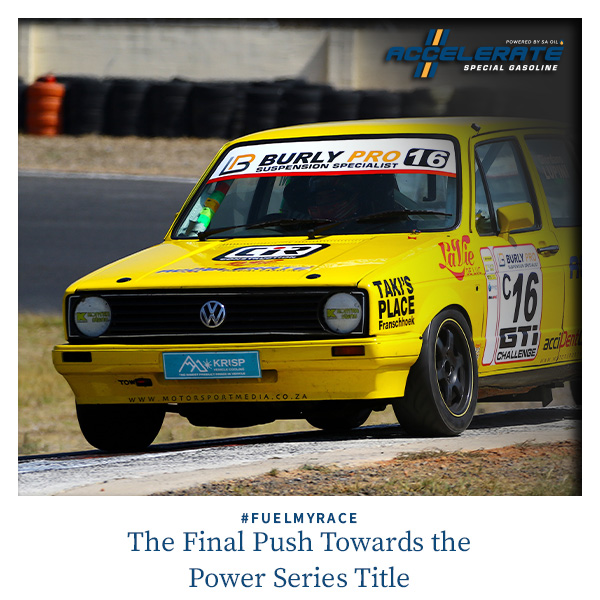 Giordano Lupini Races in round 9 of the Burly Pro WP Gti Challenge Power Series at Killarney International raceway using ACCELERATE Special Gasoline powered by SA Oil
